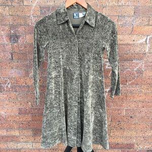 Jean Bourget girls button down dress